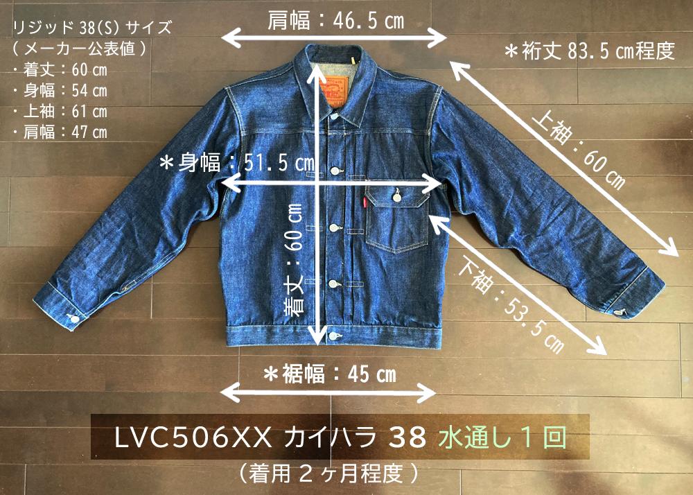 LVC506XX ワンウォッシュ前後の各寸法1