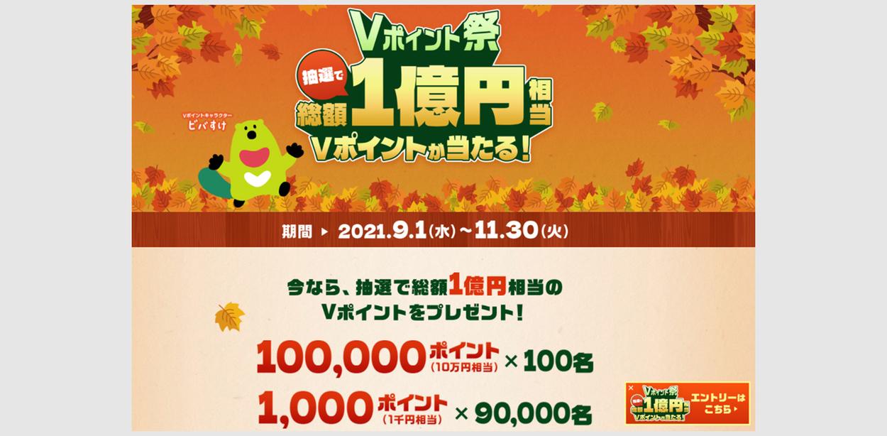 三井住友カードで1万円が1口で抽選 1000Pが9万名1