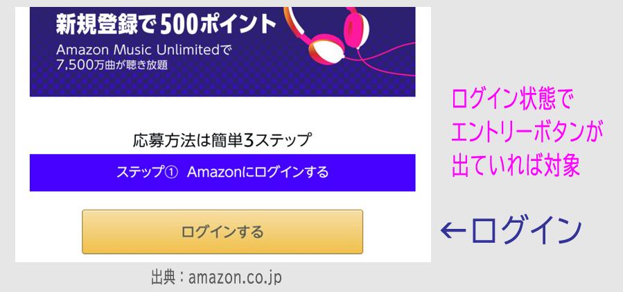 Amazon ミュージック アンリミテッド 新規登録で500P+3か月無料1