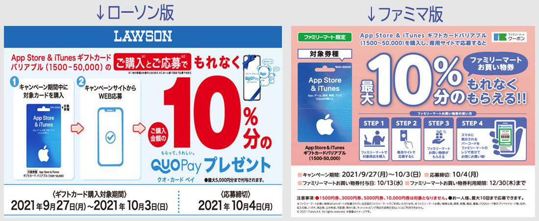 ローソン、ファミマでApp Store & iTunes ギフトカードが10%還元