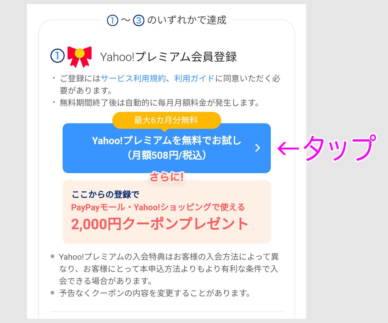 6ヶ月無料+2000円分のクーポンのオフー2