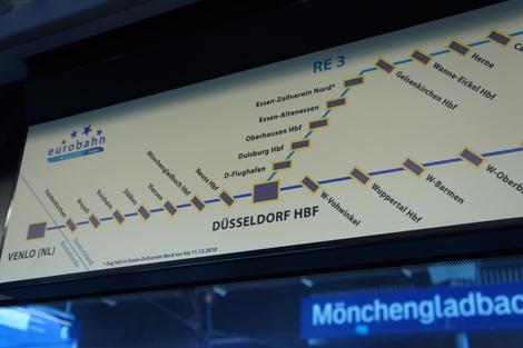 フランクフルトからフェンロー経由の図