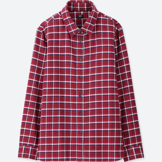 UNIQLOフランネルチェックシャツ