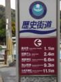奈良長谷寺駅前歴史街道案内表示