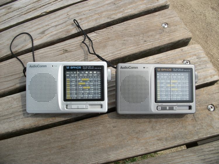 AudioComm RAD-S312N(左)と RAD-S512N(右)。