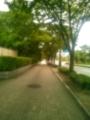 松本清張記念館の横、小文字通り