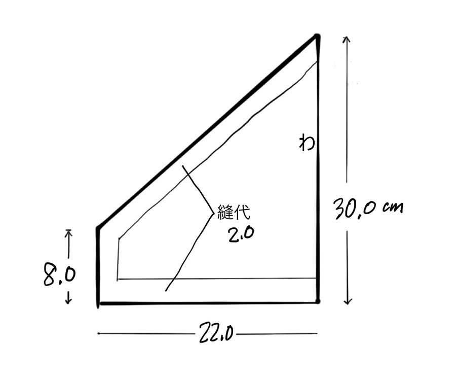 子供三角巾の製図