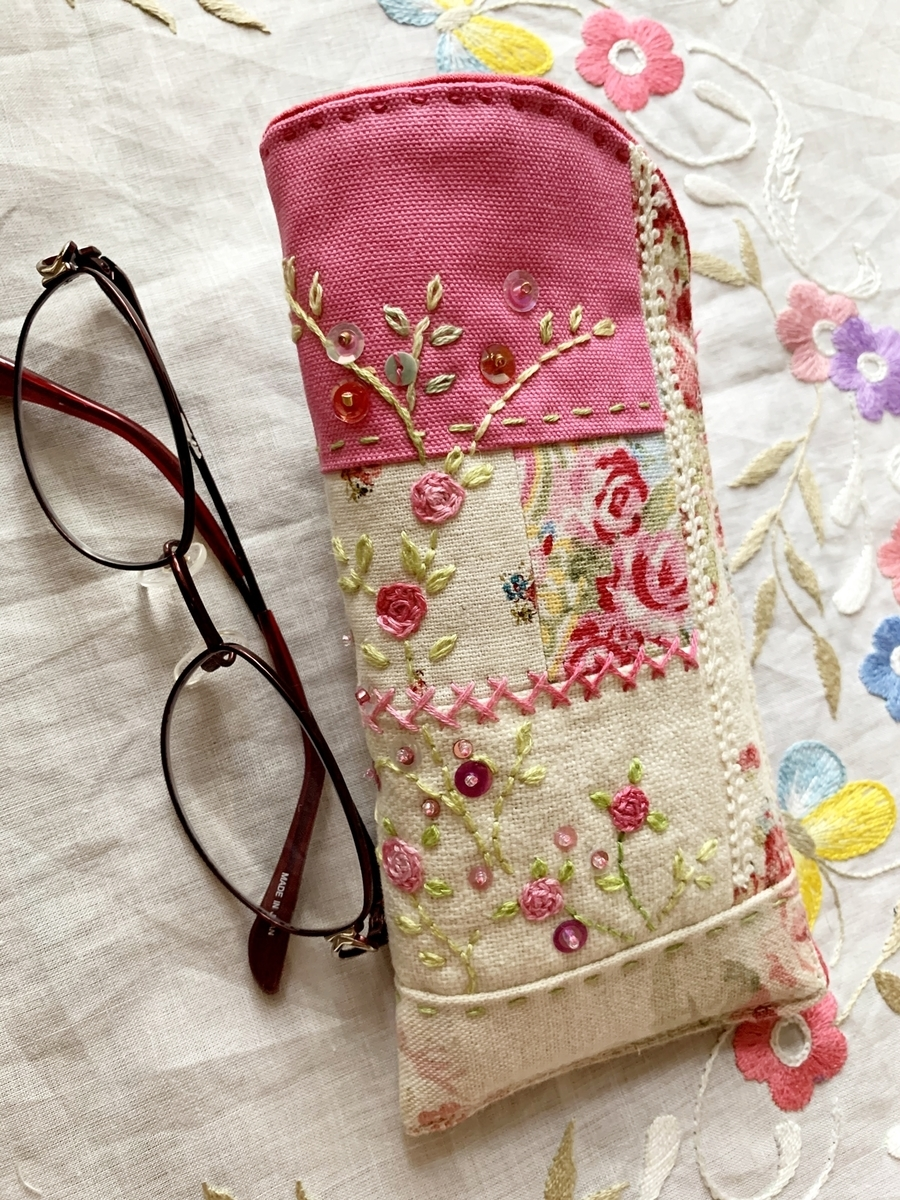crazy quilt glasses case