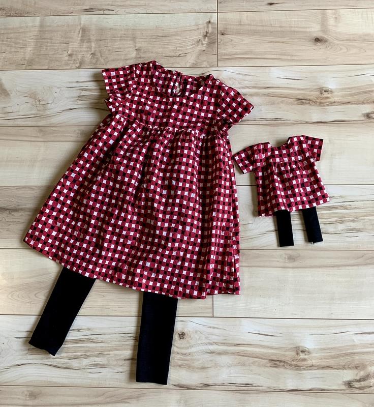 子供服と人形服 お揃いコーデ