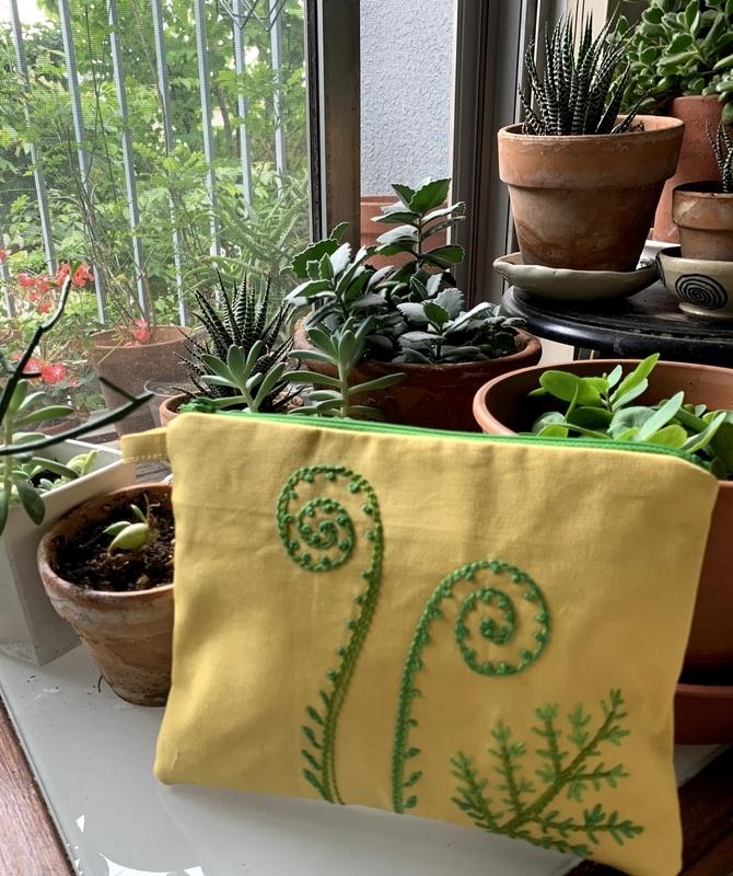 Fern-embroidery