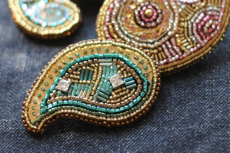 Bead- embroidery- brooch