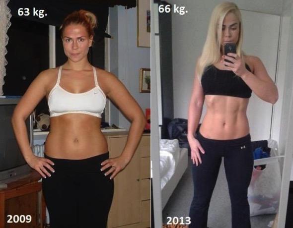 同一人物説同体重の女性の外見