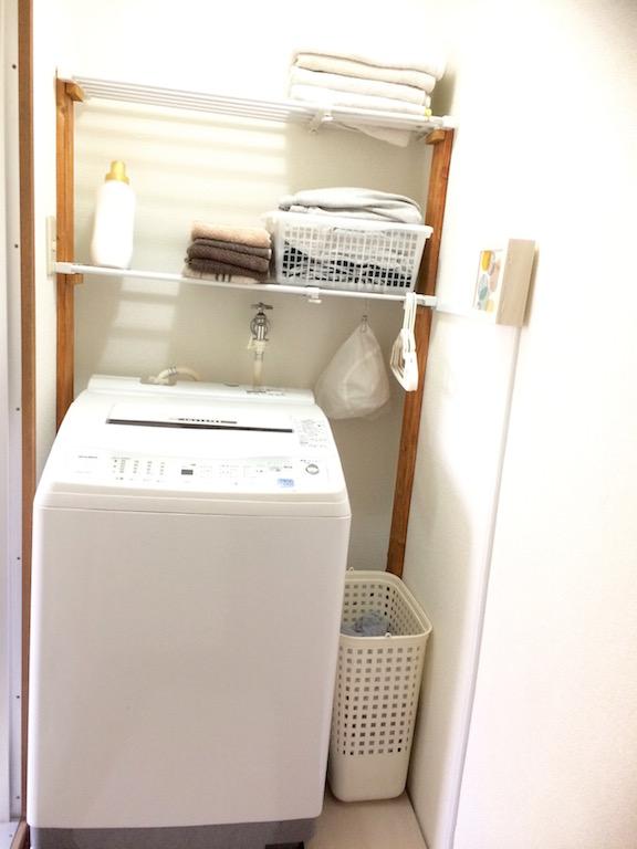 洗濯機上収納をDIY