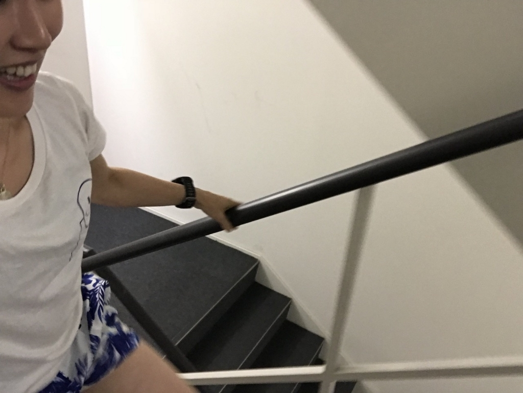 階段マラソンキツい!