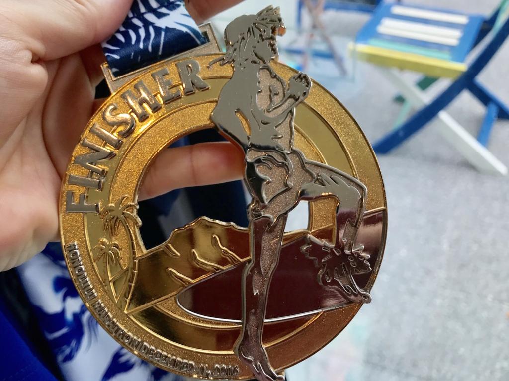 ホノルルマラソン完走メダル