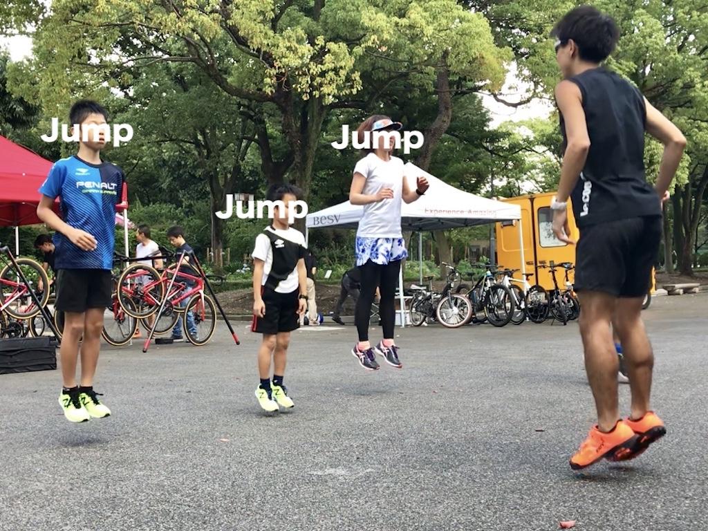 足首でジャンプするトレーニング