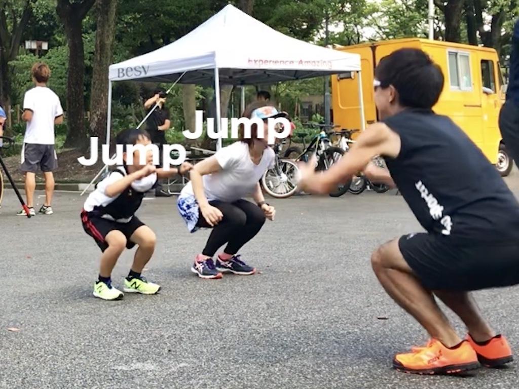 膝でジャンプするトレーニング