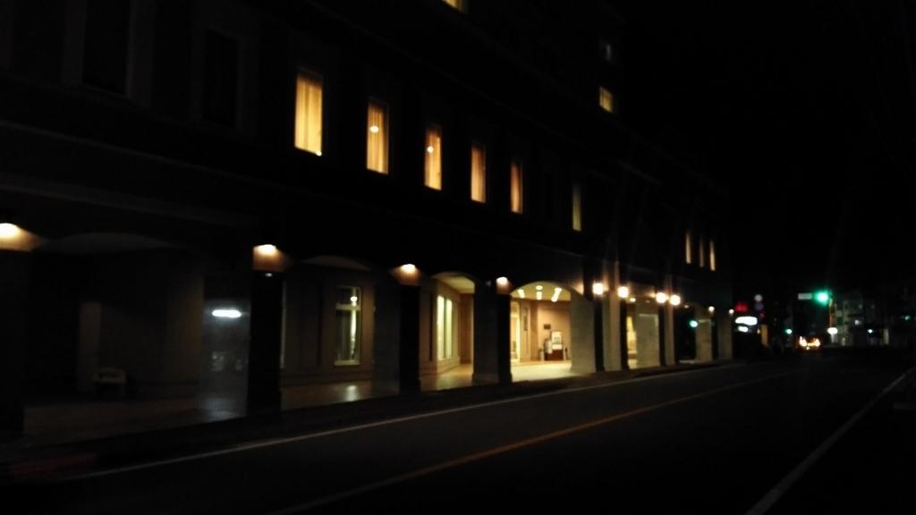 カンパーナホテルの入り口が見えてきた
