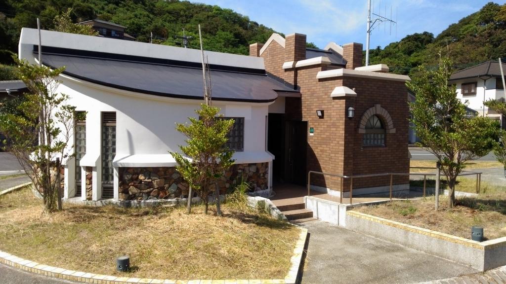 『堂崎天主堂』横にある無料駐車場を併設したトイレ