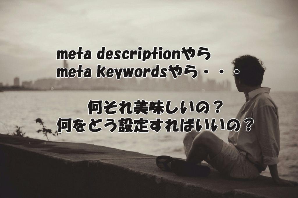 meta descriptionやらmeta keywordsやら結局何をどう設定すればいいの?