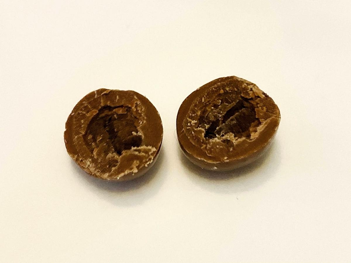 コーヒービーンズチョコ断面図