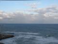 鯵ヶ沢。初めての日本海記念。