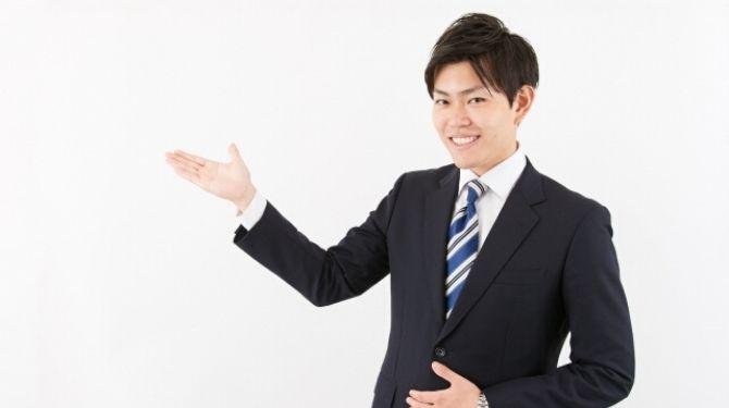 スーツの男性画像