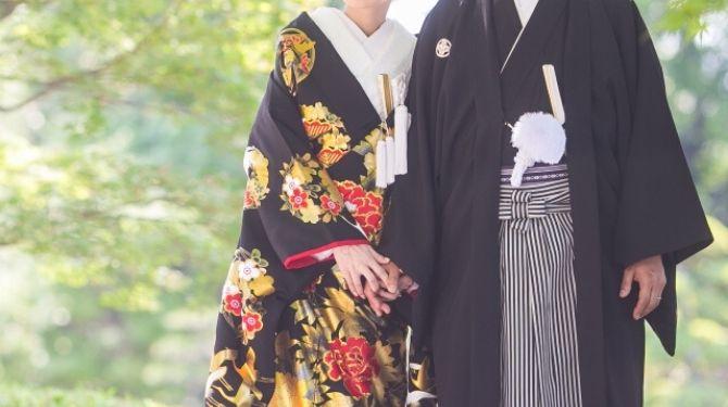 和装結婚式画像
