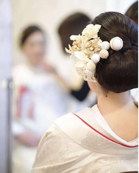 綿帽子の女性画像