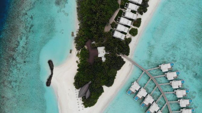 バリ島上空写真