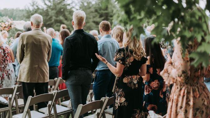 結婚式のゲスト写真
