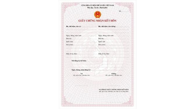 ベトナム結婚証明書