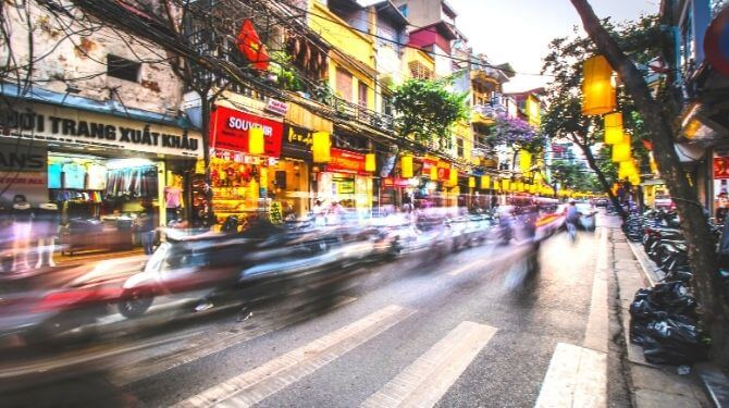 ベトナムの街画像