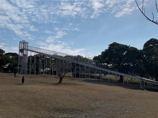 桜島自然恐竜公園ローラー滑り台