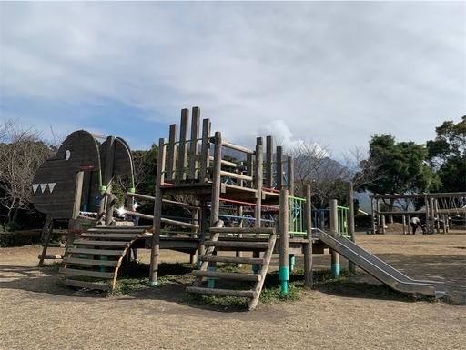 桜島自然恐竜公園アスレチック
