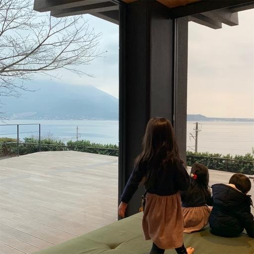 松風軒からの桜島