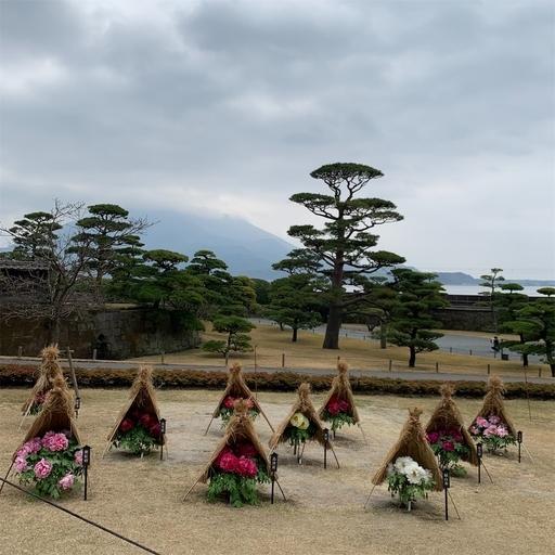 正月の仙巌園