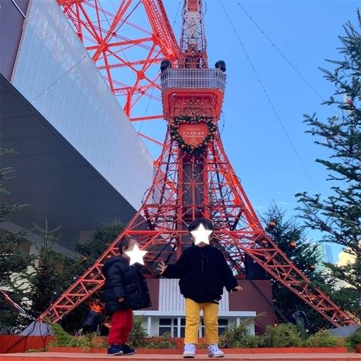 クリスマスバージョンの東京タワー