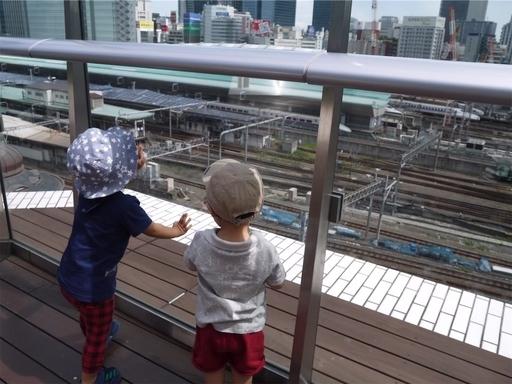 KITTEから東京駅を見下ろす