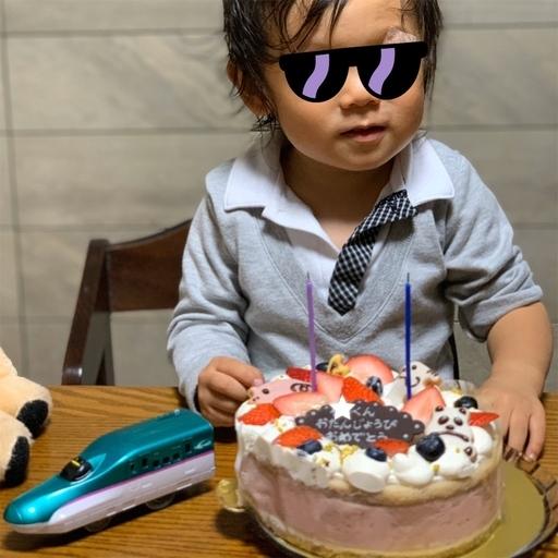 チャヤマクロビのバースデーケーキ