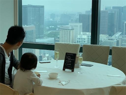 汐留シティセンターのレストランからの風景