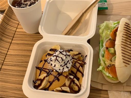 CLT PARK Cafeのパンケーキとパニーニ