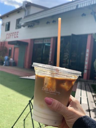 カフェのラテ