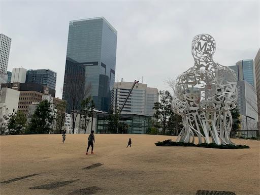 虎ノ門ヒルズのオーバル広場