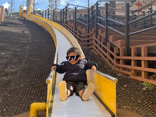 ロボロボ公園のローラー滑り台