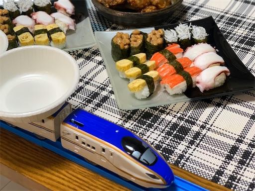 プラレール寿司