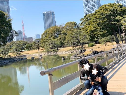 浜離宮庭園から臨む東京タワー