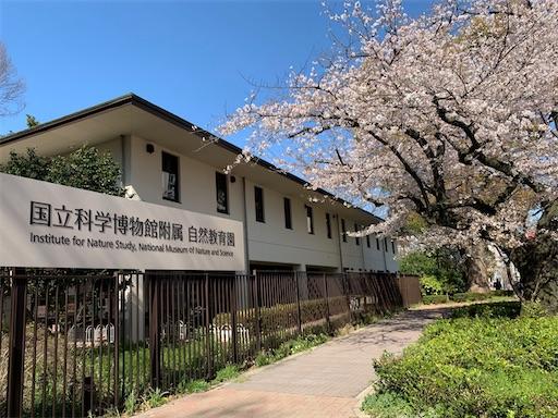 国立科学博物館付属自然教育園のエントランス