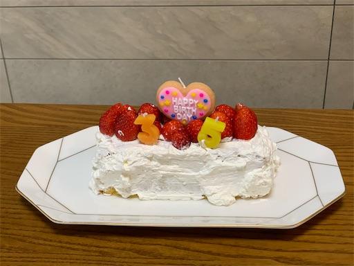 2歳児が作ったケーキ