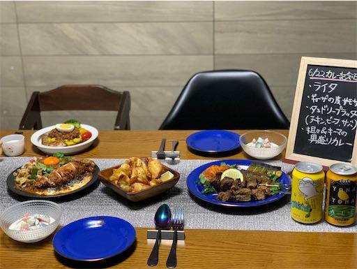 カレー記念日の食卓